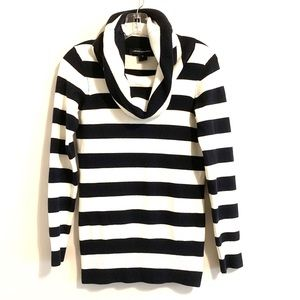 French Connection Striped Funnel Neck Sweater